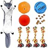 Volacopets Juguetes para dentición de cachorros para perros pequeños, juguetes masticables para dentición, paquete de 8