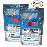 Hard Rhino Pantothenic Acid (Vitamin B5) Powder, 1 Kilogram (2.2 Lbs), Unflavored, Lab-Tested, Scoop Included