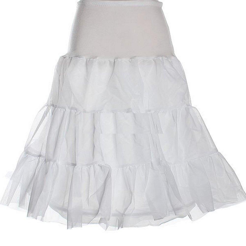 Zimo White Tutu Gown 50s Petticoat Underskirt Crinoline Slip by Zimo