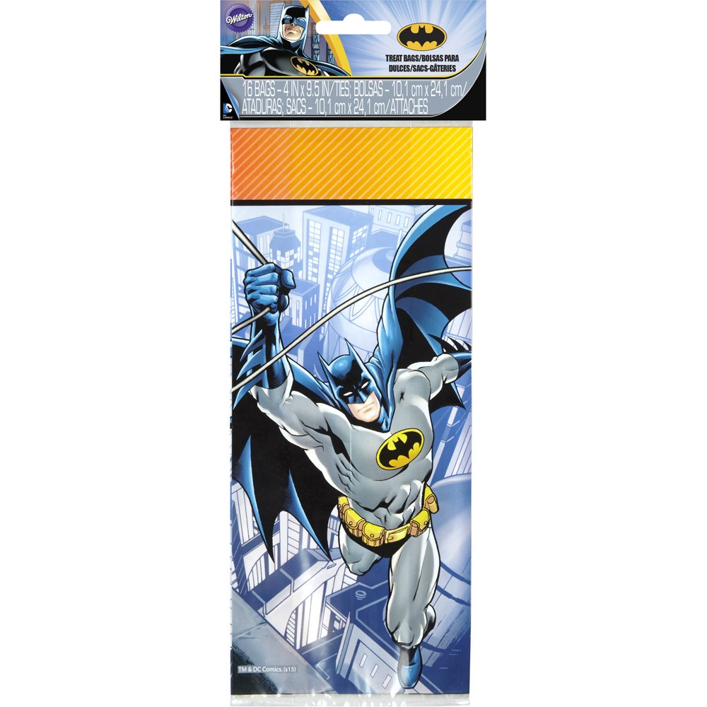 Wilton 16 Count Batman Treat Bags, Multicolor