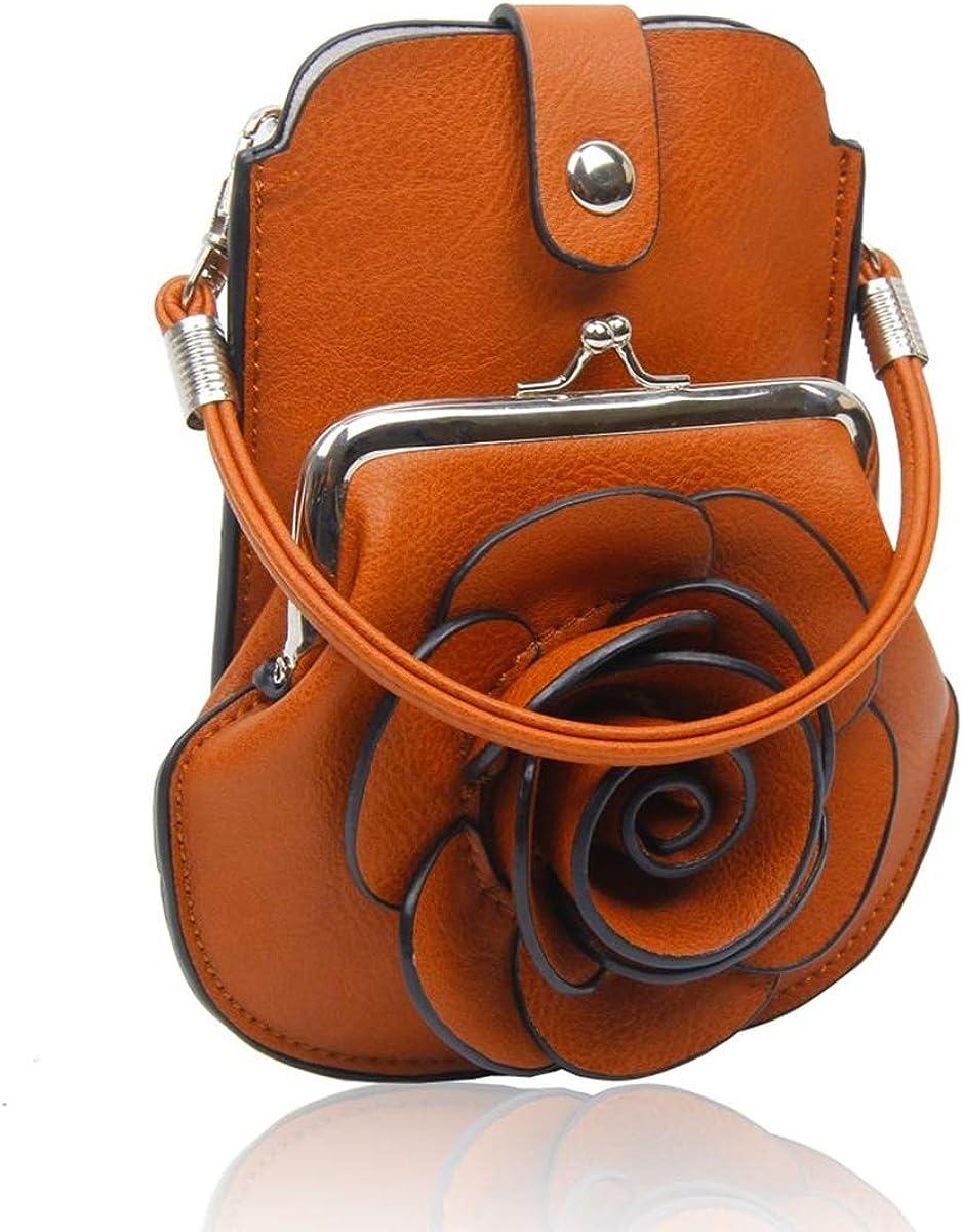 New Ladies//Girls Strong Lightweight Zipped Patterned Shoulder Handbag Flowers