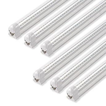 barrina led shop light 40w 5000lm 5000k 4ft integrated fixture v