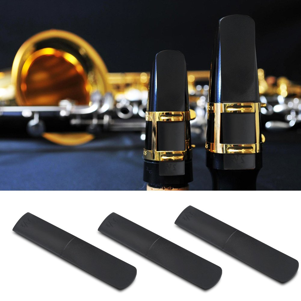 3pcs Alt Saxophon Blätter 2,5 Kunststoff Harz Altsaxophon Mundstück Blätter 2,5 Teile Reparatur Reed Zubehör Tbest