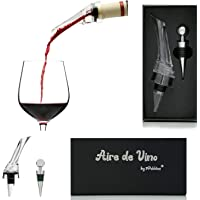 Aire de Vino - Wine Aerator - Premium Aerating Pourer Wine Decanter Spout - Enhance Wine Flavour - with Wine Bottle…