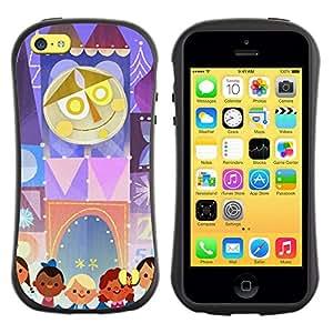 Paccase / Suave TPU GEL Caso Carcasa de Protección Funda para - Kids Mother Circus Drawing - Apple Iphone 5C