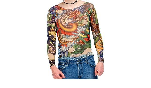Camiseta Infactory con estilo tatuaje:Estampado de tatuaje ...