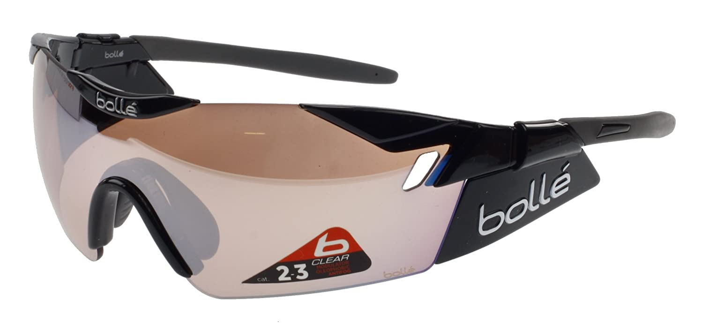 Bollé 6th Sense Sonnenbrille, Schwarz, mit Abnehmbaren Seitenblenden ...