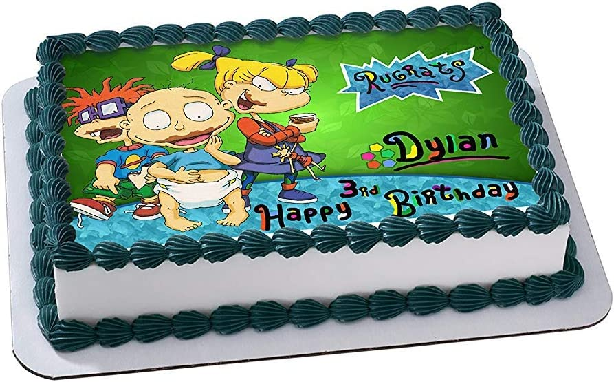 Astounding Amazon Com Rugrats Edible Image Cake Topper Personalized Icing Funny Birthday Cards Online Necthendildamsfinfo
