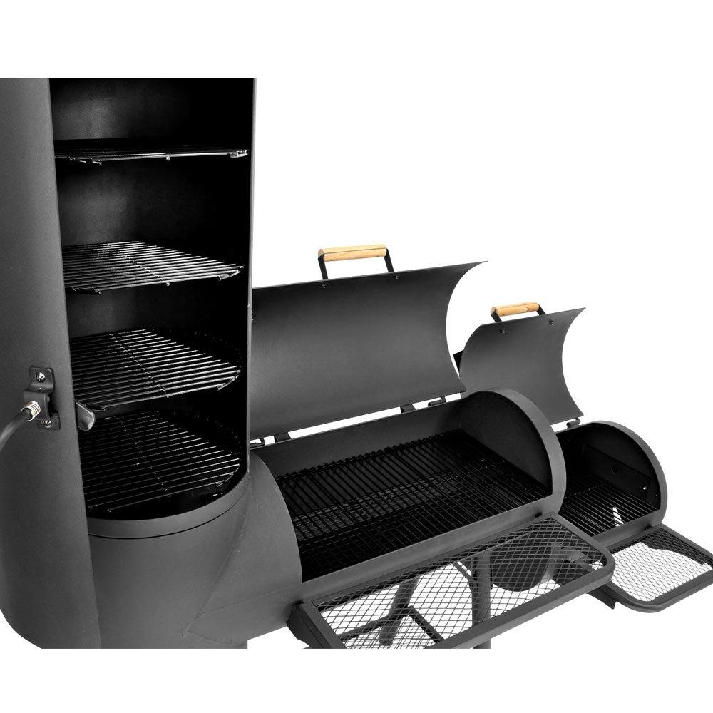 XXL 130kg Smoker BBQ GRILLWAGEN Holzkohle Grill Grillkamin*