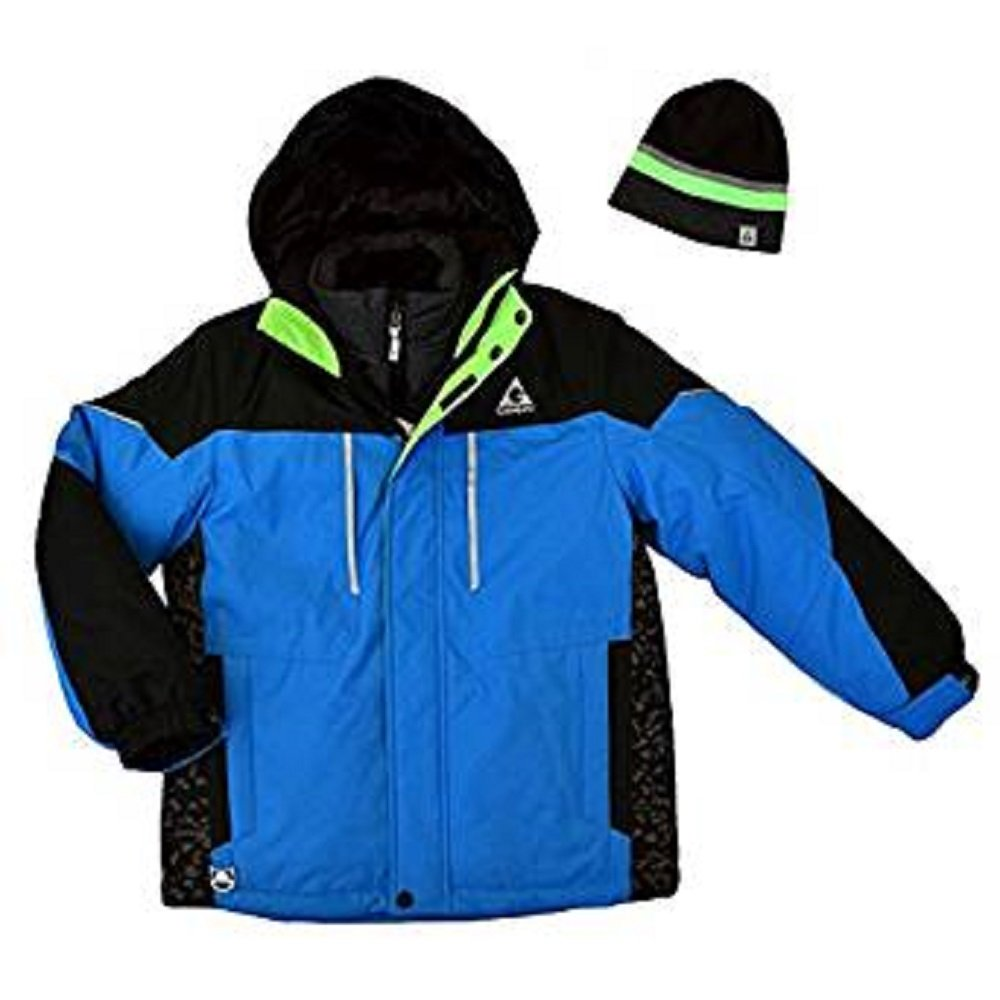 Inner Jacket /& Beanie For Boys Azure, XS 5//6 Gerry 3-In-1 System Hooded Outer Jacket