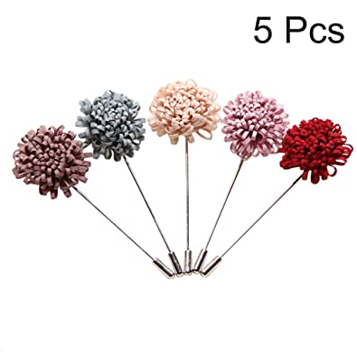 FENICAL 5 unids Hombres Pin Broches Solapa Flor Hecha A Mano ...