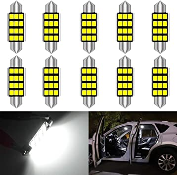 interior.. 10 x Bombillas 8 LED SMD C5W Festoon 36mm Matricula Blanco Xenon