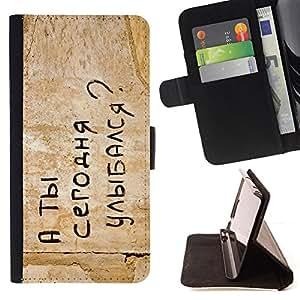 BullDog Case - FOR/Samsung Galaxy S3 III I9300 / - / FUNNY - RUSSIAN MESSAGE /- Monedero de cuero de la PU Llevar cubierta de la caja con el ID Credit Card Slots Flip funda de cuer