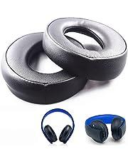 De Remplacement Coussinets d'oreille Coussins Coussinets Tasse pour Sony Doré sans Fil PS3 PS4 7.1 Surround virtuel Casque Cechya-0083 (Noir)