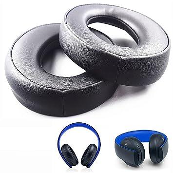 Almohadillas de Repuesto para Auriculares inalámbricos Sony Gold PS3 PS4 7.1 Virtual Surround CECHYA-0083 (Negro): Amazon.es: Electrónica