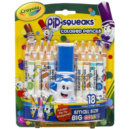 Crayola Pip Squeaks Colored 18 Count Sharpener