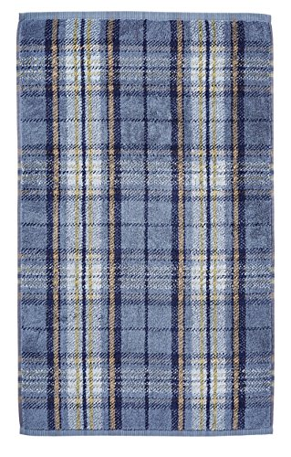 Morris & Co Woodford Plaid Towel, Guest, Cotton, Sage, 40 x 70 x 0.1 cm Bedeck TWLWOOGGSAG