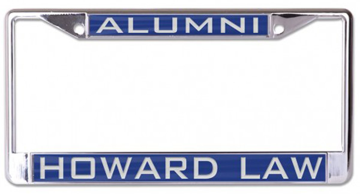blue 2 mount holes metal with inlaid acrylic WinCraft Howard Law Alumni Premium License Plate Frame