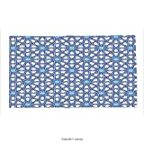 Custom printed Throw Blanket with Arabian Decor Collection Traditional Moorish Turkish Tangled Pattern and Geometric Lines Mosque Islamic Art Print Blue White Super soft and Cozy Fleece Blanket