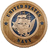 """11.3"""" Navy Large Wooden Plaque"""