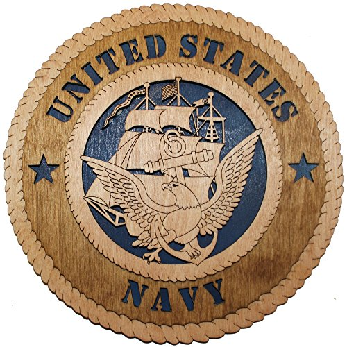 11.3″ Navy Large Wooden Plaque
