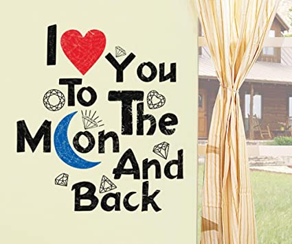 Amazon Com Bibitime Valentine S Day Sayings I Love You To The Moon
