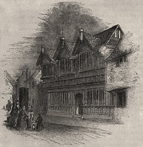 Coventry Wall Small (1366 - Old timber houses at Coventry. Warwickshire. SMALL - 1845 - old print - antique print - vintage print - printed prints of Warwickshire)
