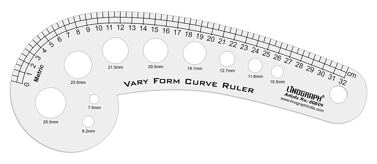 Linograph 32 Cm Markierung Mehrzweck-Vary Form Curve Lineal Pattern Making Scale