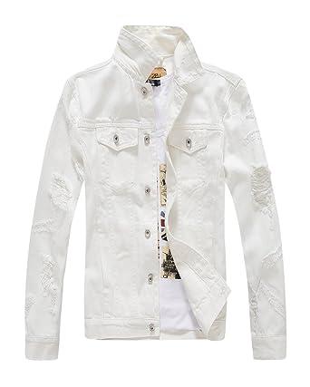 Veste en jean blanc pour homme