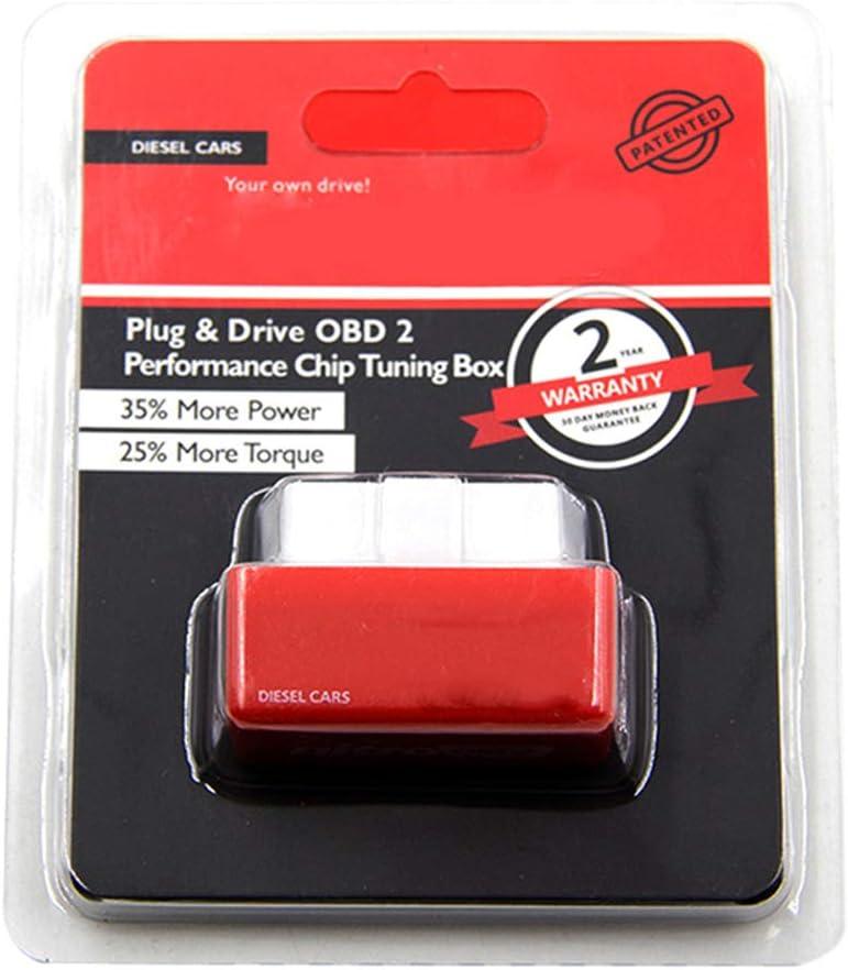 Gcroet 1Pc Chip Tuning Box Nitro OBD2 Performance Plug And Drive Car Tool Accessoire De Voiture OBD2 Chip Tuning Works Pour Les Voitures Diesel Rouge