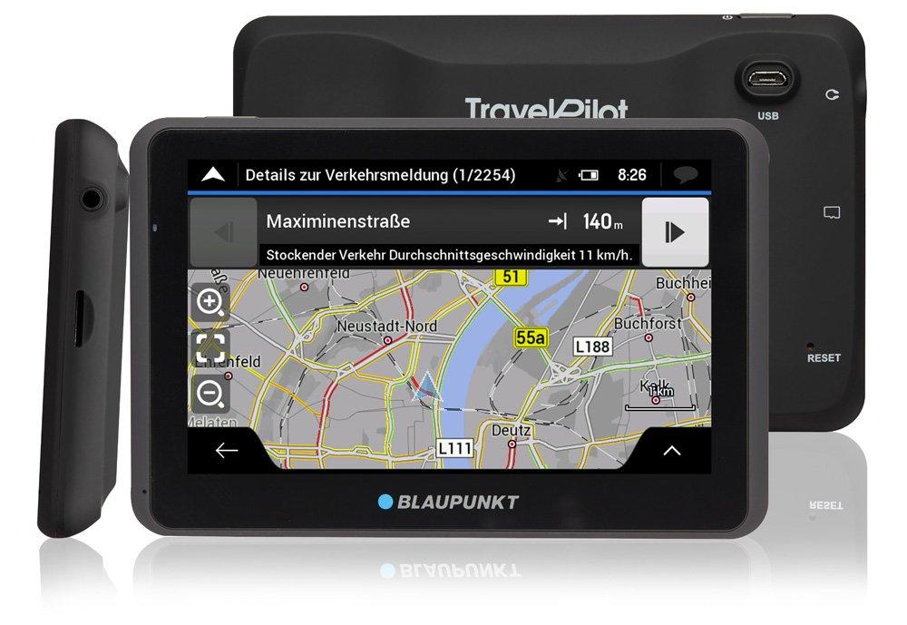 Blaupunkt TravelPilot 65 Active EU LMU /écran capacitif en Verre Tactile capacitif syst/ème de Navigation avec Support Actif