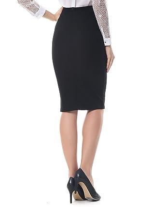 Kenancy Mujer Midi Faldas Tubo Largas Cintura Alta Elegante Falda de Lápiz Danza Elástico S - 5XL: Amazon.es: Ropa y accesorios