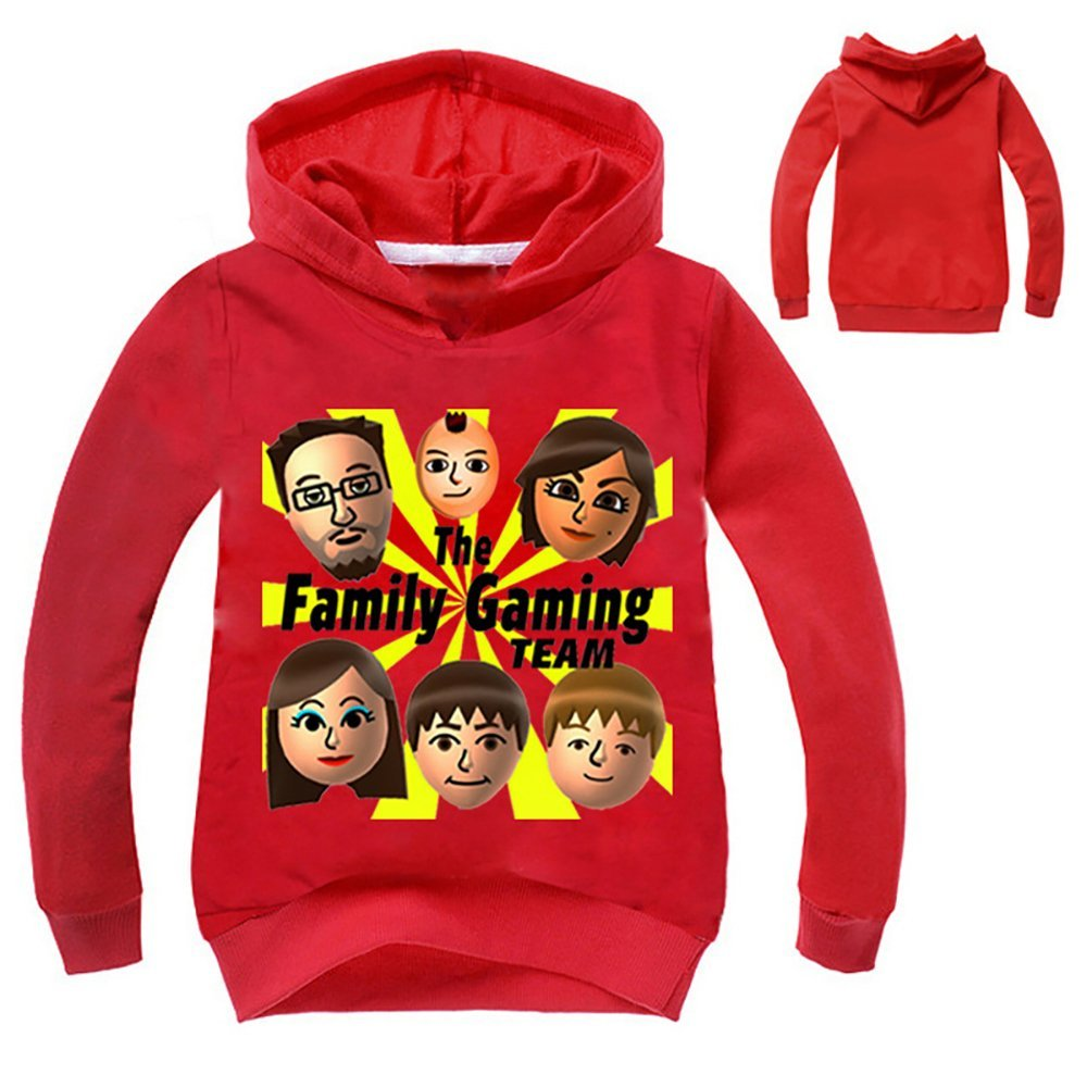 Boys Girls Kids FGTeev Family Gaming Team Thin Soft Comfortable Hoodie Sweatshirt