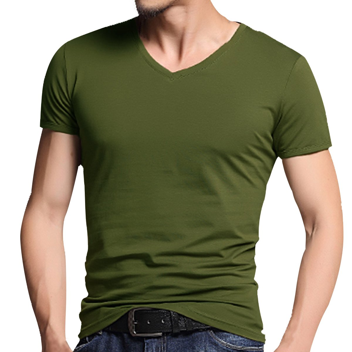 04c9ada9808 Machine Wash Please choose correct US size when you place an order. Casual  tops, Cotton shirt, Summer shirt, Muscle fit, Blank t shirt, Solid color