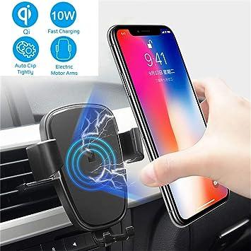 Caricatore Wireless Auto,10W Qi Rapida Caricabatterie & Auto Vento ...