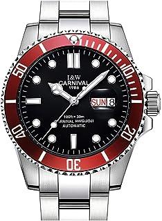 Carnival Mens 8756 Automatic Watch Waterproof Luminous Analog Watch Dress Watch Casual Watch