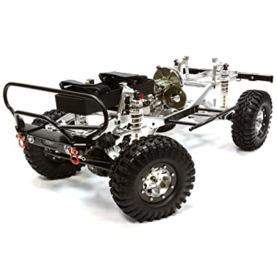 Integy RC Model Hop-ups C25771SILVERT1 Billet Machined 1/10 Size TR290 Trail Roller 4WD Off-Road Scale Crawler ARTR