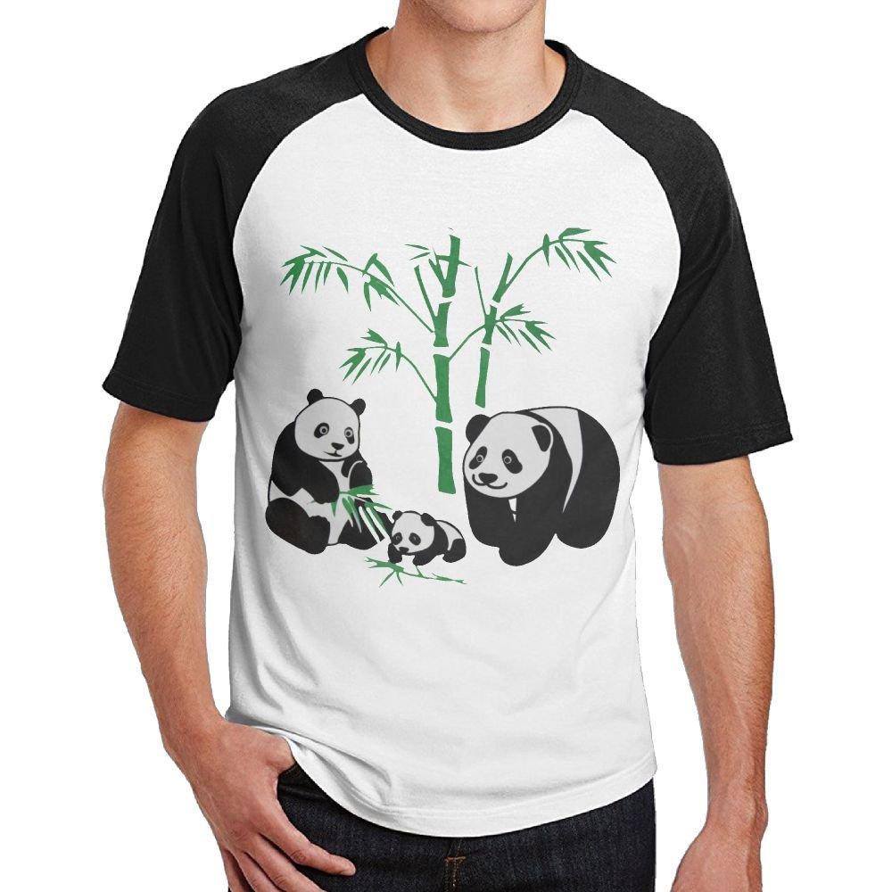 Han Panda Bear Family Classic Party M Short Sleeve Sleeve 6372 Shirts