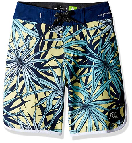 Quiksilver Boys Highline PANDANA Youth 17 Boardshort Swim Trunk, Yellow iris, 28/14