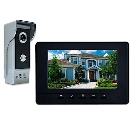 AMOCAM Wired Video Doorbell Phone 7u0026quot; Video Intercom Monitor Doorphone System Wired Video  sc 1 st  Amazon.com & Amazon.com: AMOCAM Wired Video Doorbell Phone 7