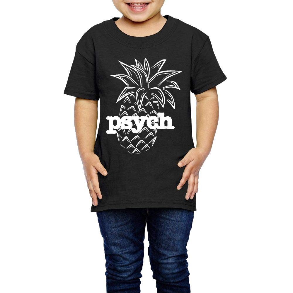 XYMYFC-E Psych Pineapple 2-6 Years Old Children Short-Sleeved T-Shirt