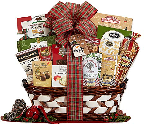 Wine Country Gift Baskets December Delight Coffee, Tea & Cocoa Holiday Tote Gift Basket. Coffee Lovers Gift Basket. Holiday Gift Basket. Christmas Gift Basket For Families, Corporate Gift Basket