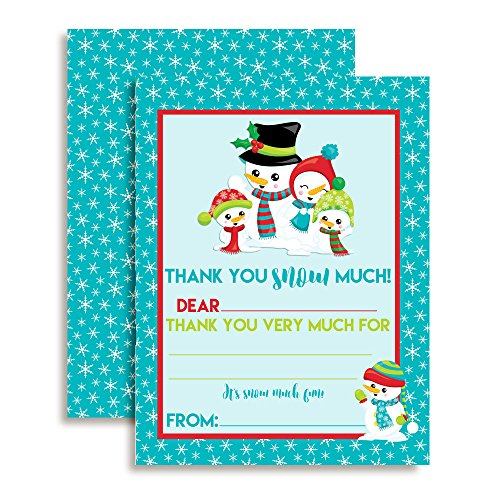 Snowman Thank You Notes for Kids, Ten 4