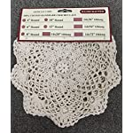 """Creative Linens 6PCS 8"""" Round Crochet Lace Doily Beige 100% Cotton Handmade, Set of 6 Pieces 6 Beige Crochet Lace Doily Set, handmade 8"""" round each piece, Set of 6 pieces Matching crocheted sunflower daisy placemats, table runners, dresser scarf, napkins, tablecloths, kitchen curtains and doilies in different sizes available"""