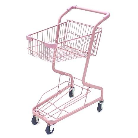 KUN Peng Shop el Carro de la Compra del Rosa de la Rueda 4 del supermercado ...