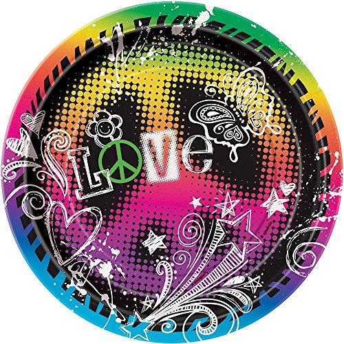 Peace Tie Dye Dessert Plates, 8ct]()