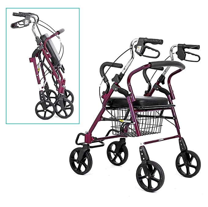 Andador con ruedas for personas de la tercera edad con rodillos ...