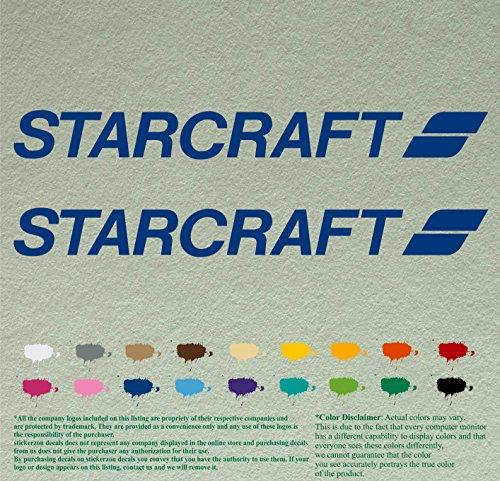 "Team up 12"" Starcraft Outboards Decals Vinyl Stickers *Blue* Vinyl Stickers Boat Outboard Motor Lot of 2"