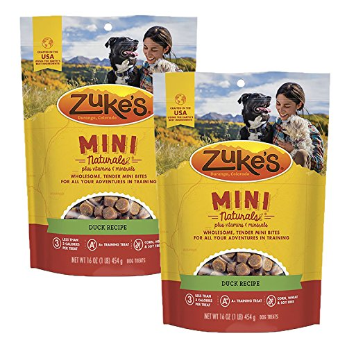 Zuke's Mini Naturals Dog Treats, Duck, 16 oz. Pouch – 2 Pack