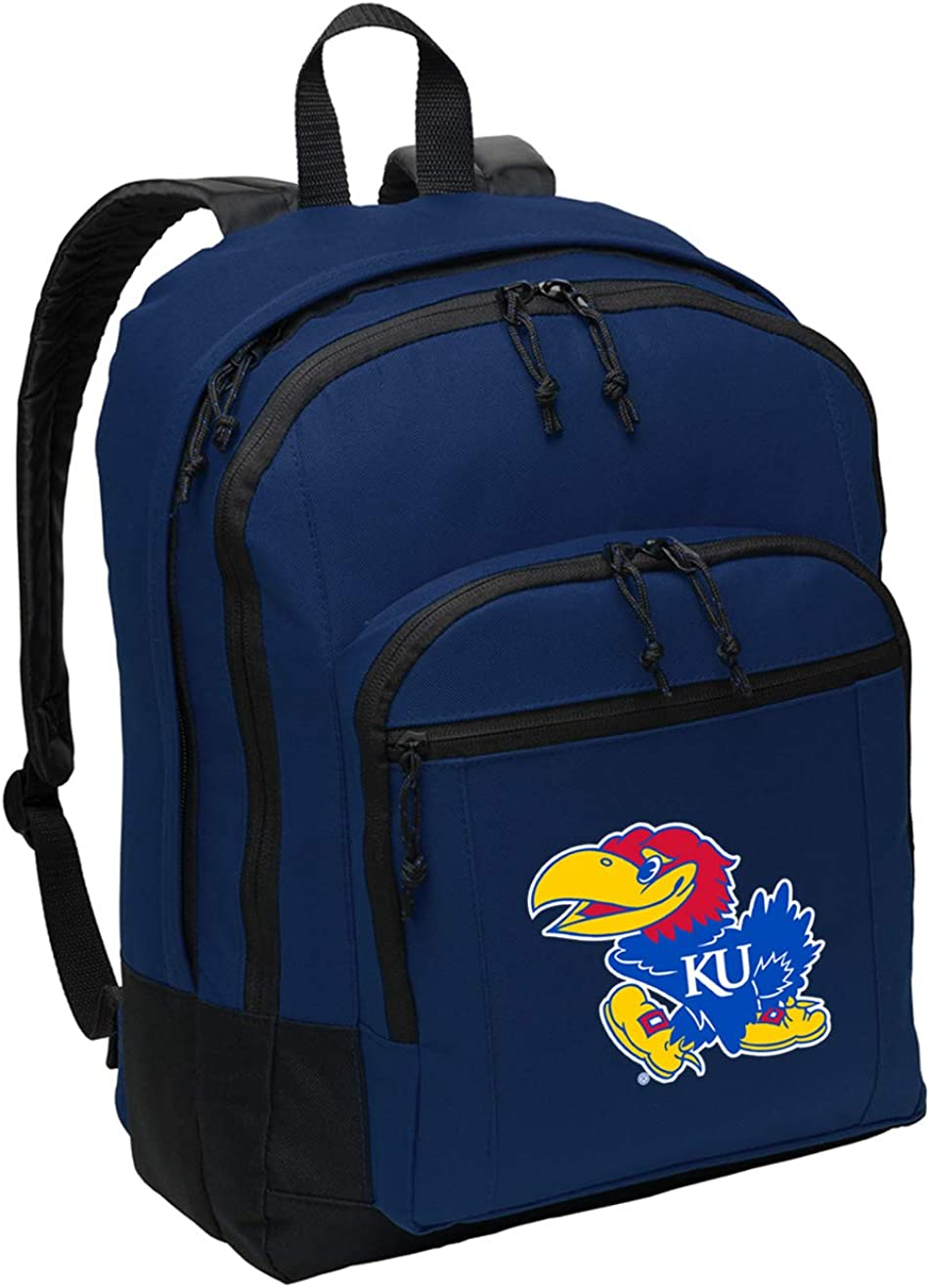Broad Bay Classic University of Kansas Backpack Medium KU Jayhawks Backpack Laptop Sleeve